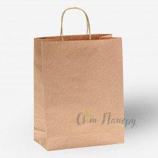 Пакет бумажный 250х150х350 мм коричневый с ручками