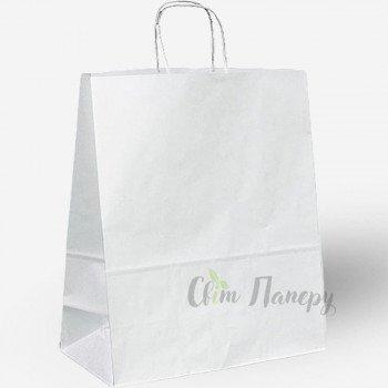 Пакет паперовий 320х150х420 мм білий з ручками