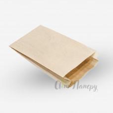 Пакет 100х50х230 мм коричневый с боковой складкой