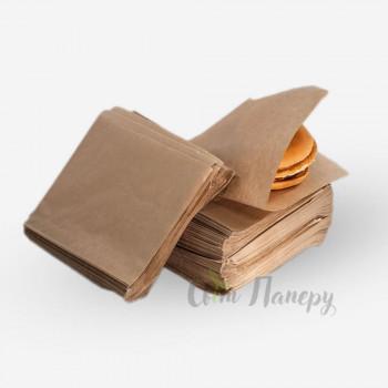 Пакет куточок 170х170 мм коричневий