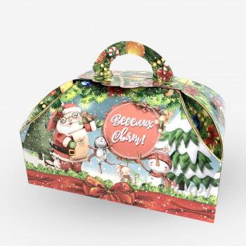 Новорічна коробка - Дід мороз і сніговики (400-500 г)
