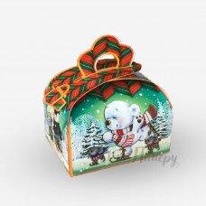 Новогодняя коробка - Медведь на коньках (150-200 г)