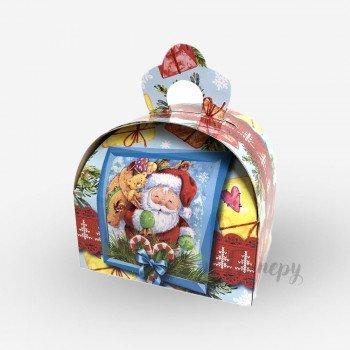 Новогодняя коробка - Дед Мороз (150-200 г)