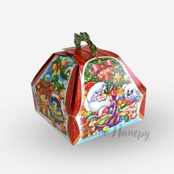 Новогодняя коробка - саквояж Дед мороз (300 г)