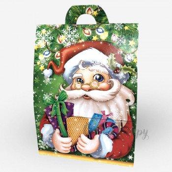 Новогодняя коробка - Санта с подарками (400-500 г)