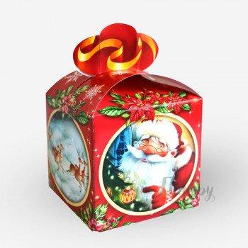 Новогодняя коробка - Дед мороз винтаж (400-600 г)