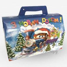 Новорічна коробка - Поїзд з новорічними подарунками (1000 г)